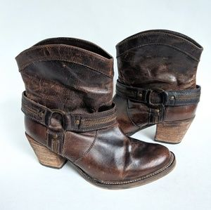 Dingo Brown Leather Cowgirl Boots Size 7